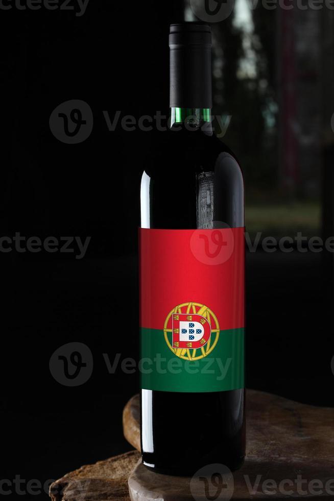 flaska vin från Portugal foto