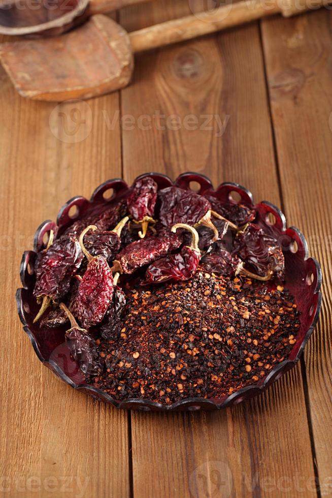 chipotle - jalapeno rökt chili foto