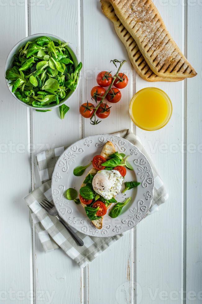 färsk hälsosam frukost foto