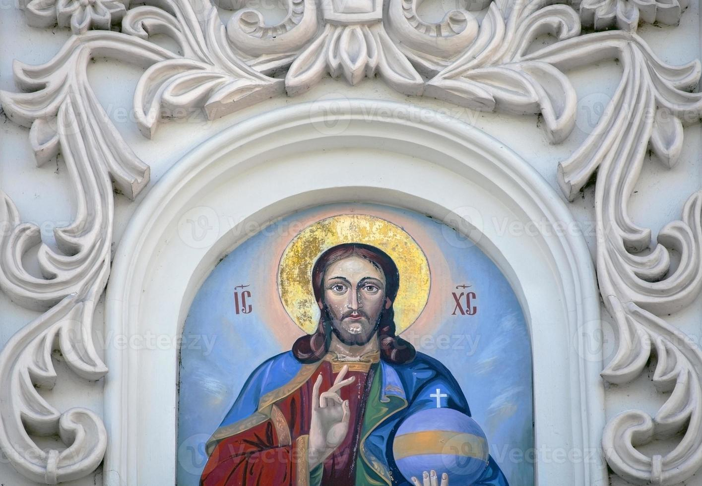 fresco av jesus. foto