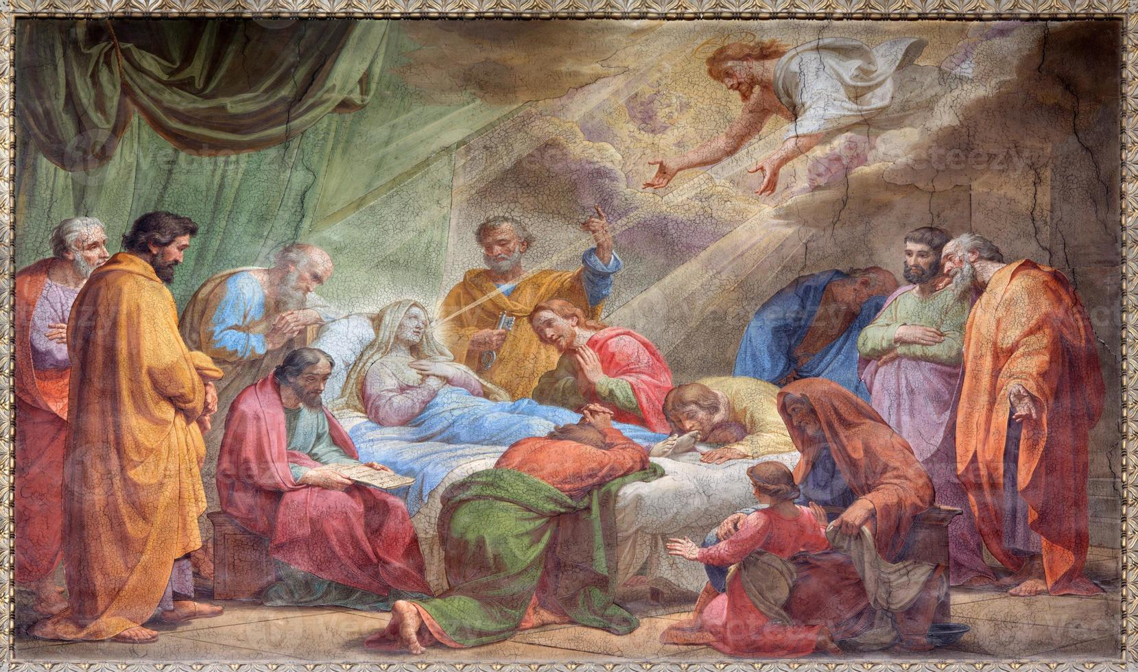 Rom - sovsalan för jungfru mary fresco foto