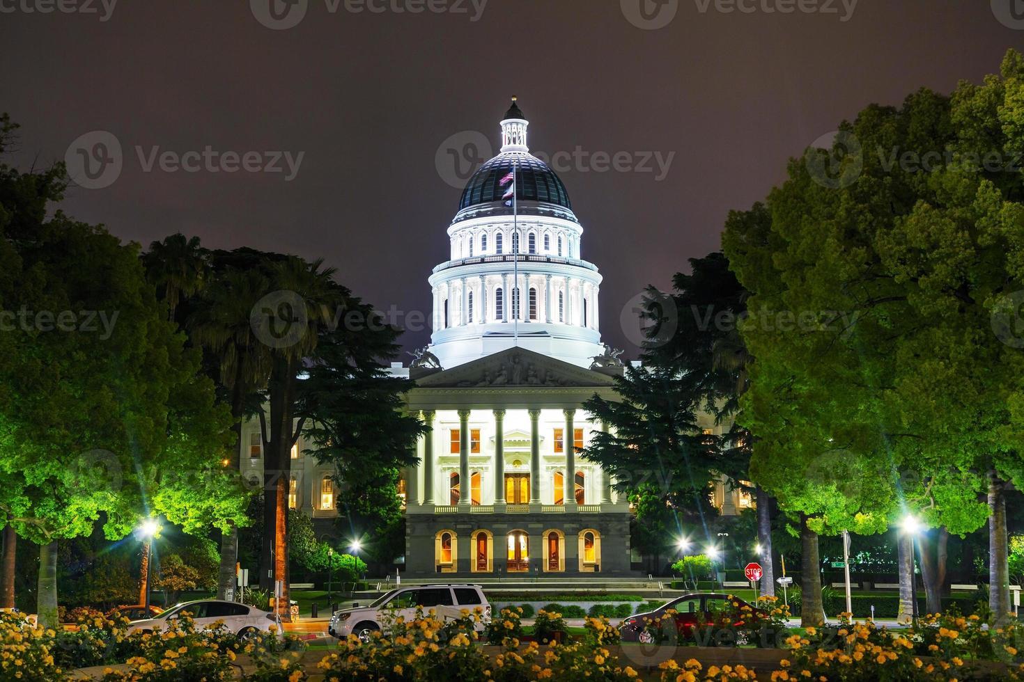 Kaliforniens statliga huvudstadsbyggnad i Sacramento foto