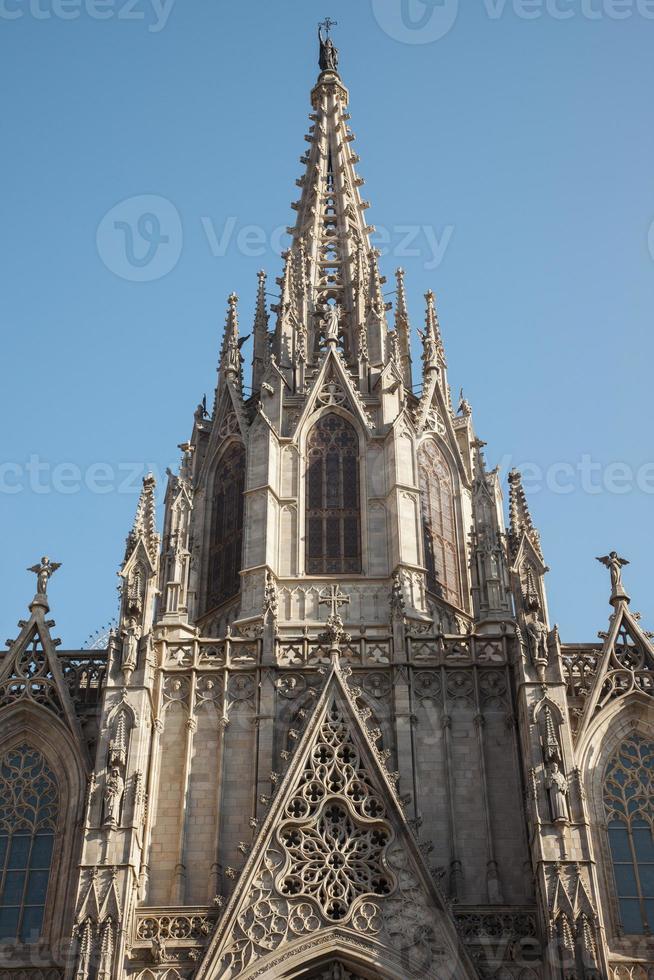 detalj från barcelona gotiska domkyrka foto