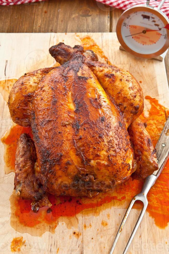 färsk grillad kyckling foto