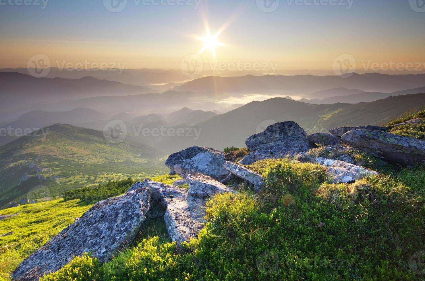 bergslandskap. foto