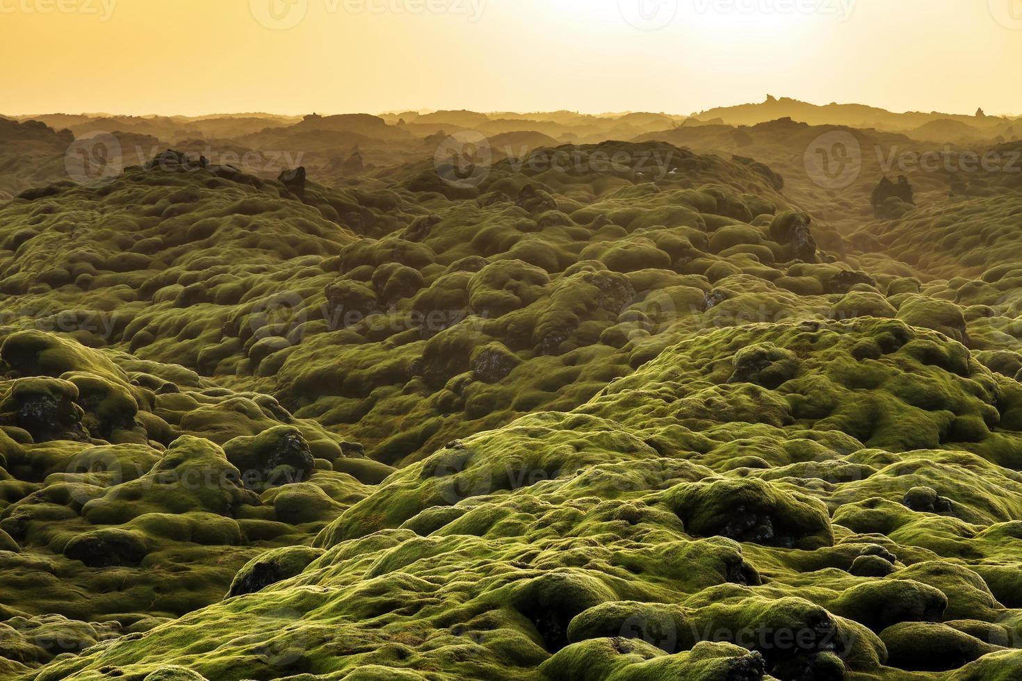 vulkaniskt landskap Island foto