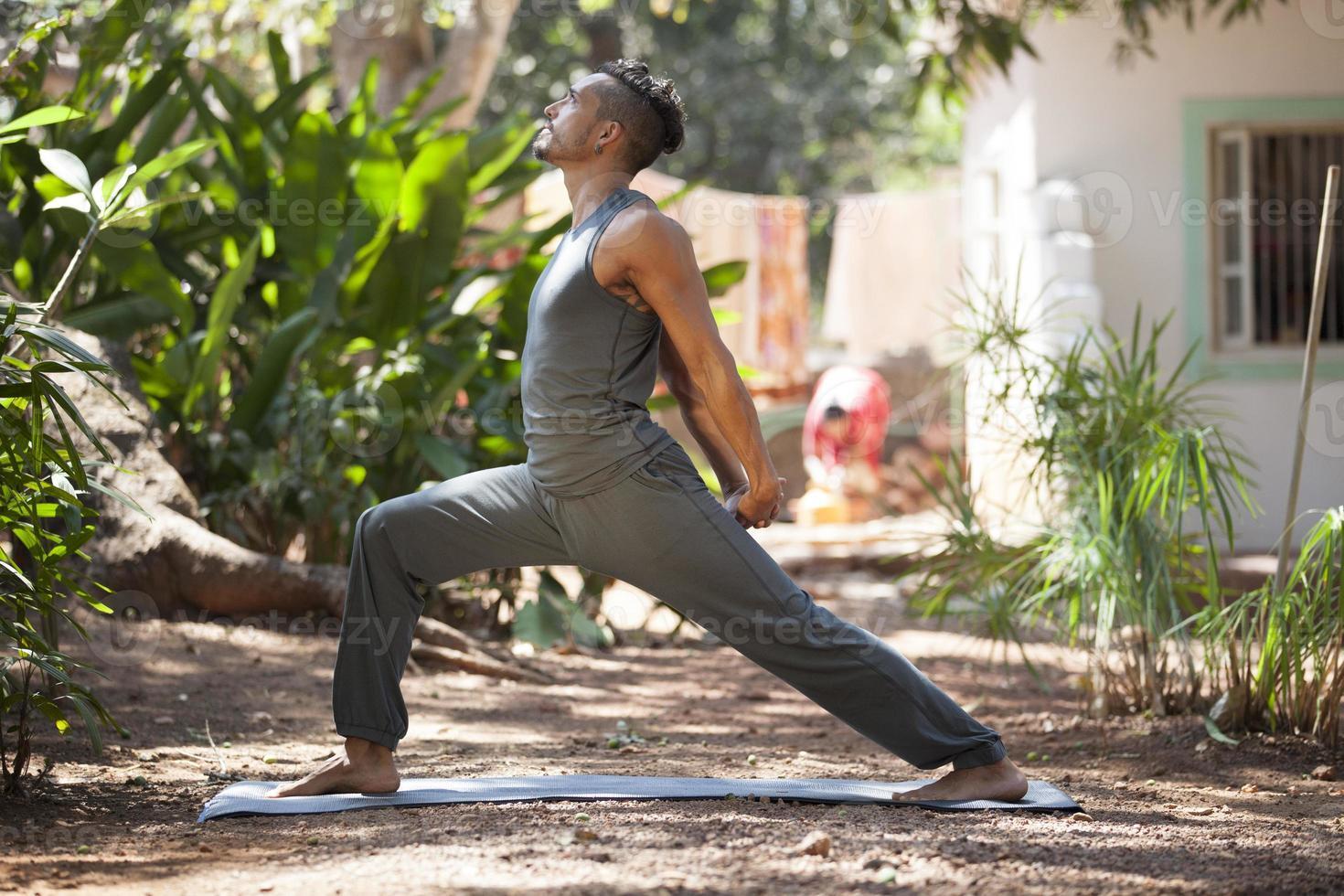 yoga i naturen. foto