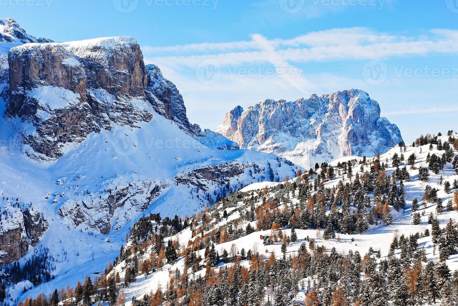 landskap med dolomiter berget, Italien foto