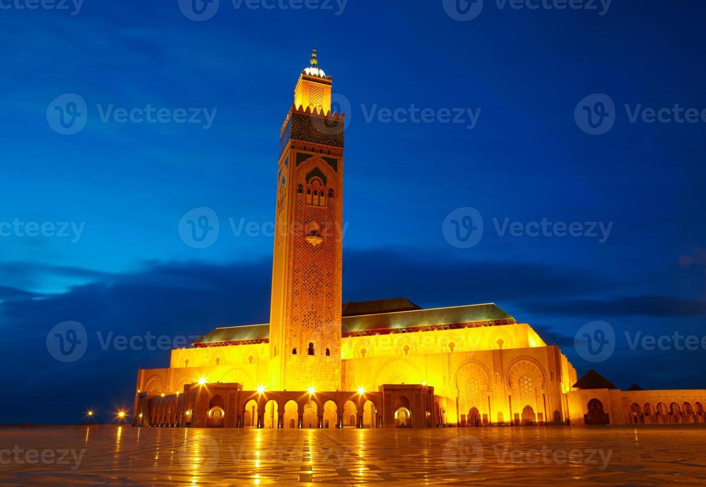 hassan ii moské i casablanca, marocko afrika foto