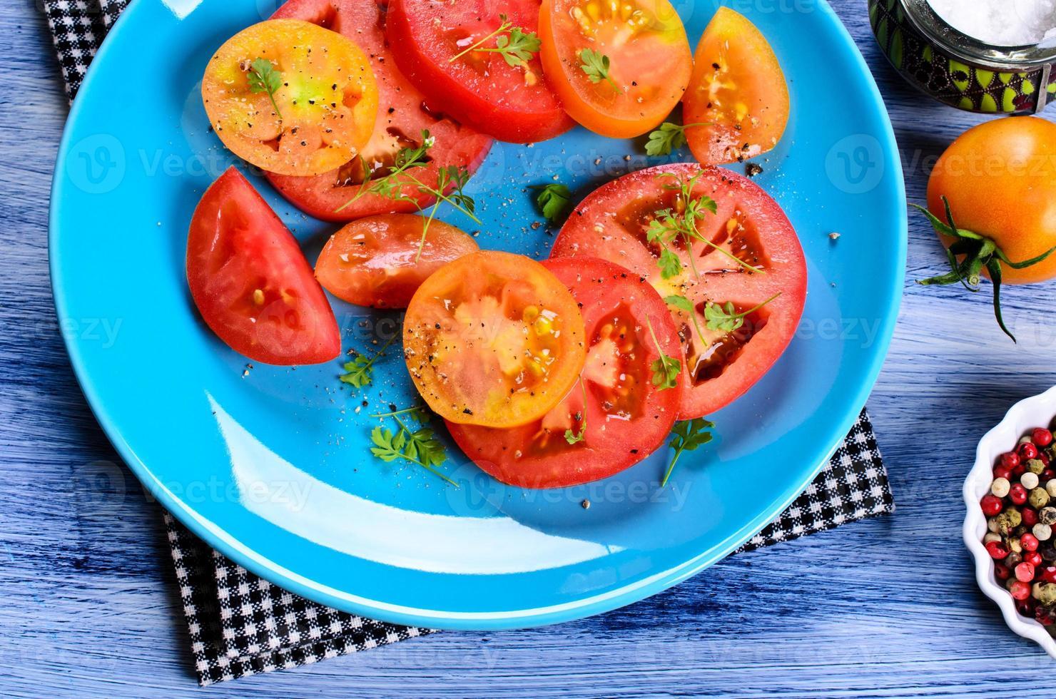 sallad av tomater foto