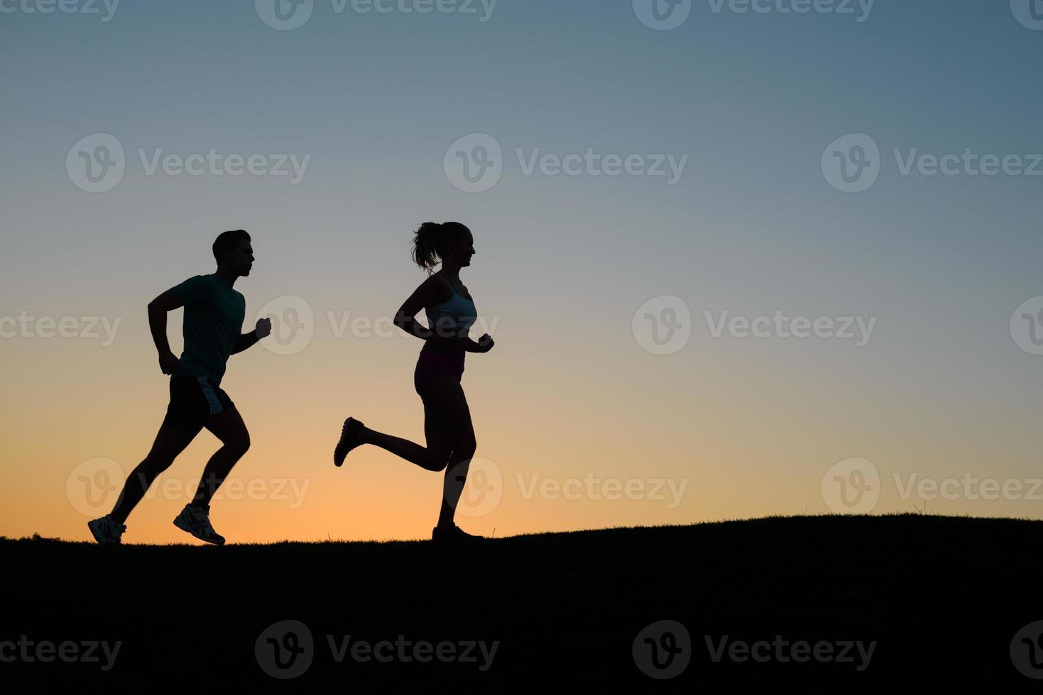 morgon springa på naturen. foto