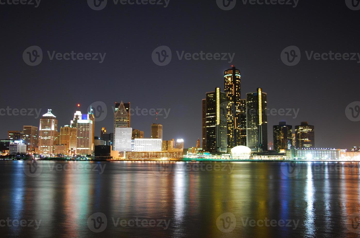 natt skyline foto