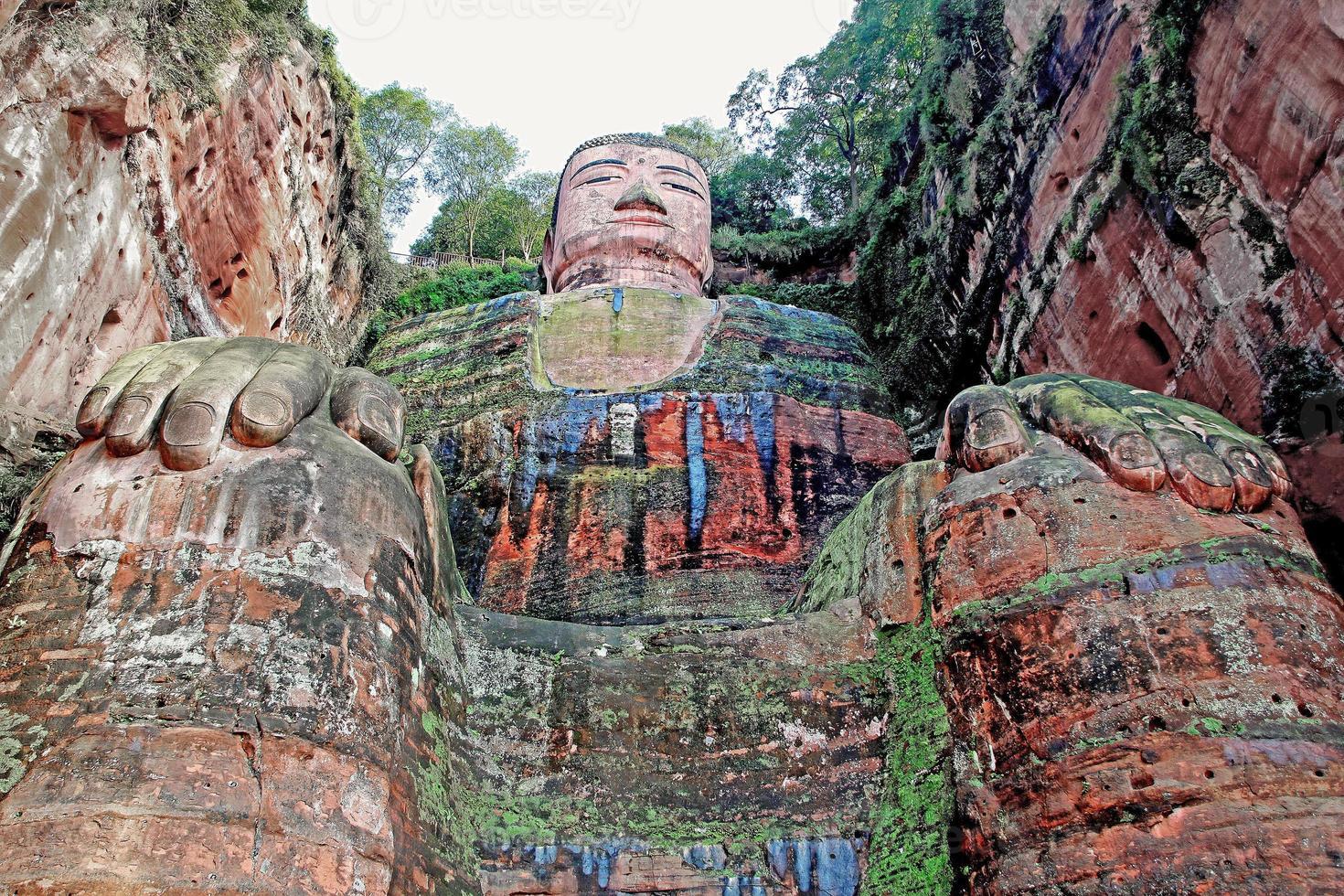 leshan jätte buddha foto