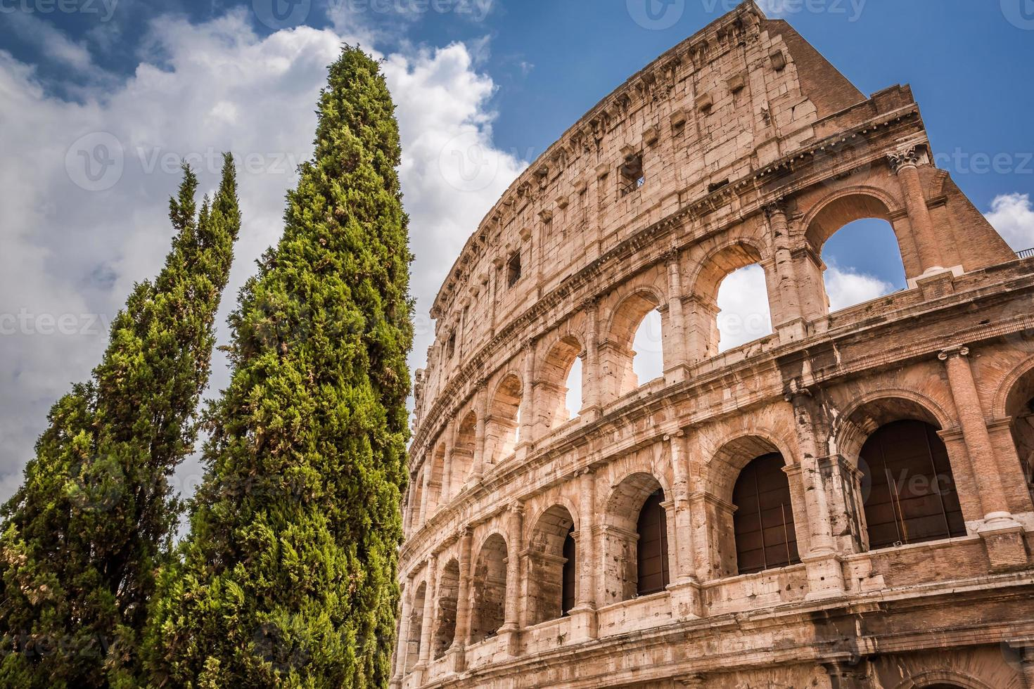 vacker colosseum i Rom, Italien foto
