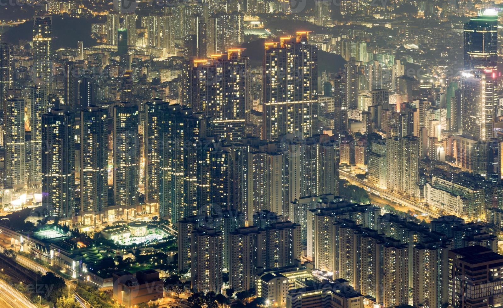 hong kong bostadsområde foto