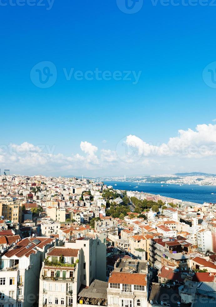 istanbul utsikt från galatorn foto
