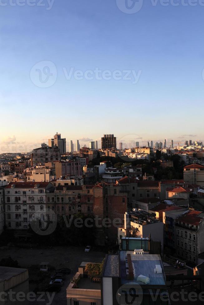 horisont av istanbul foto