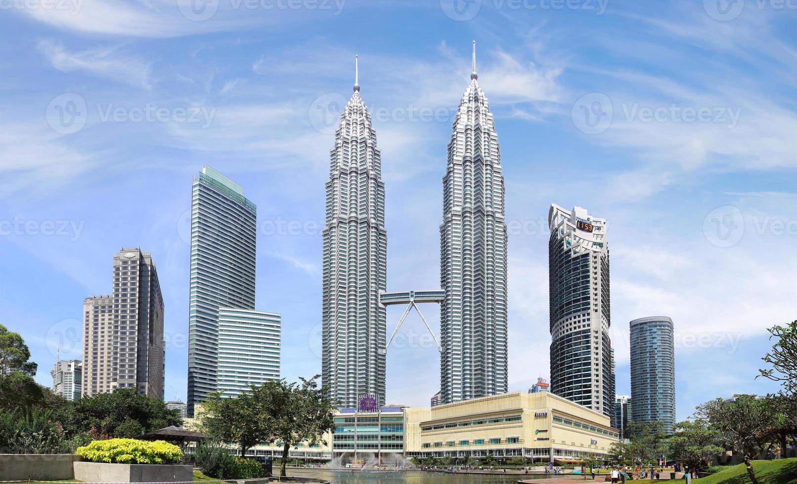 Petronas tvillingtorn. Kuala Lumpur, Malaysia foto