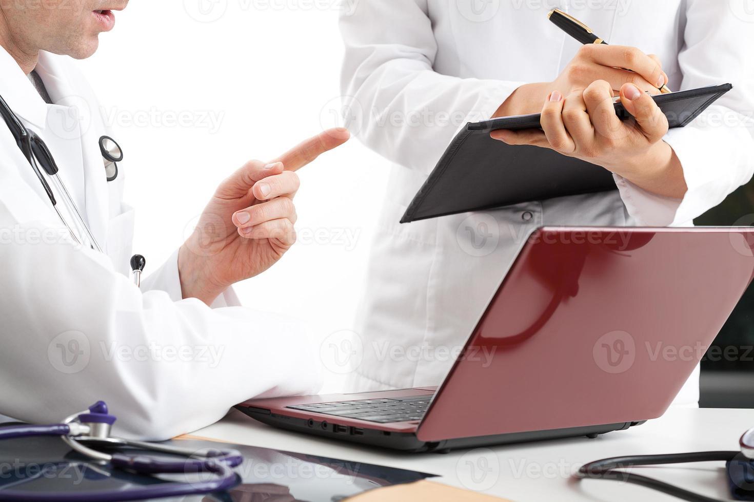diskussion om behandlingsresultat foto