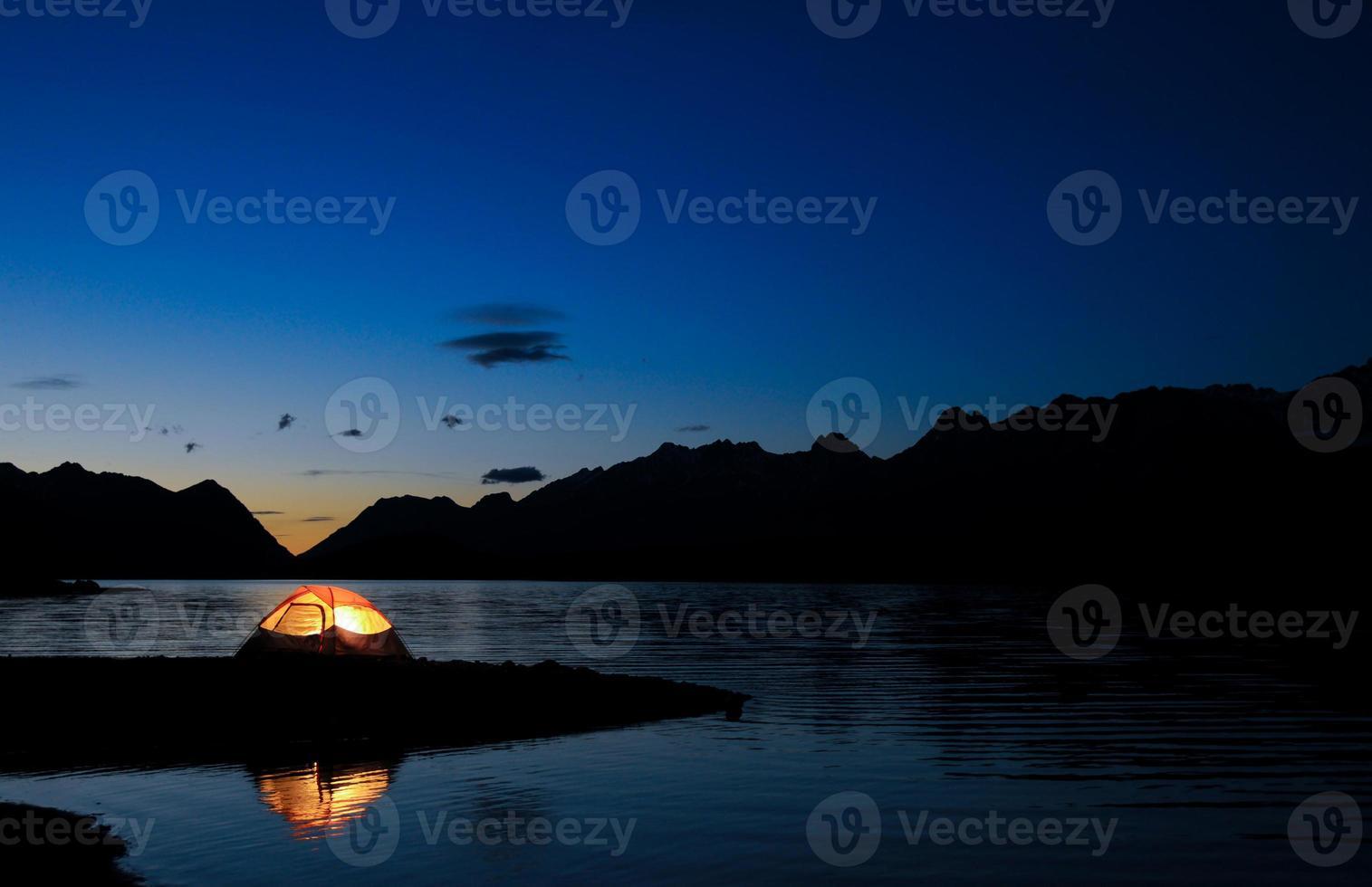 upplyst tält foto