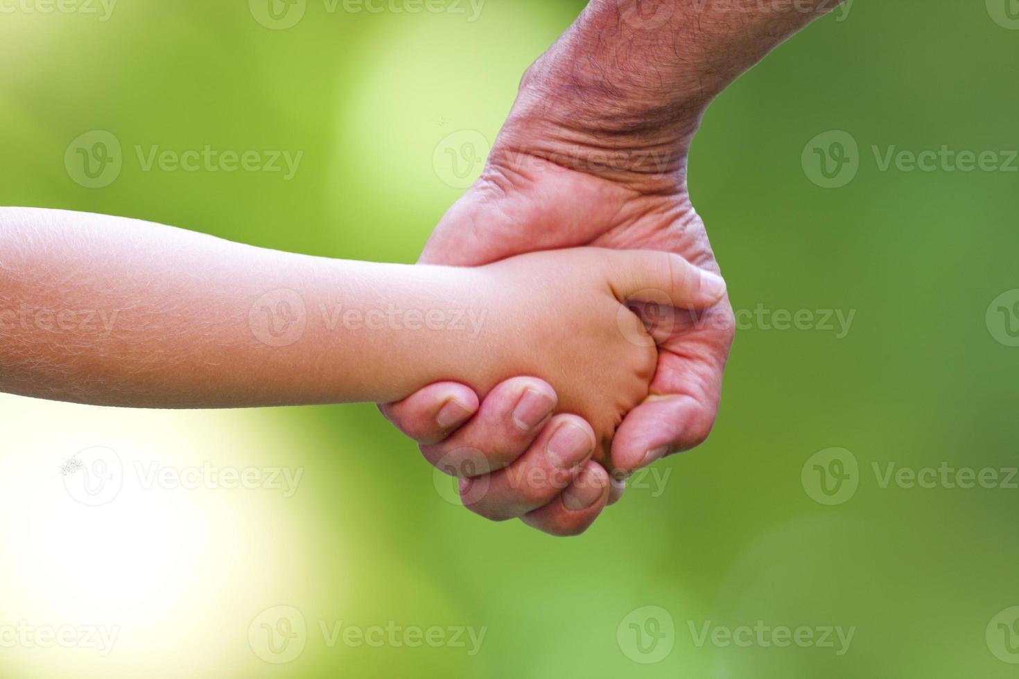pappa och barnarbete foto