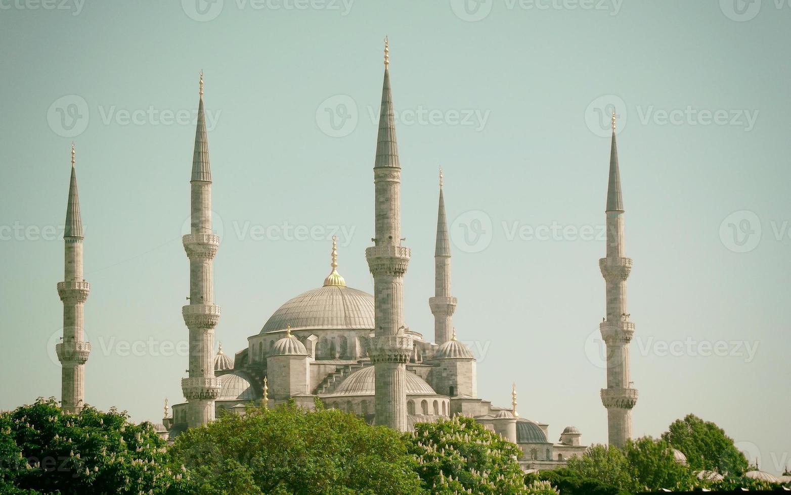 moské av sultanahmet foto