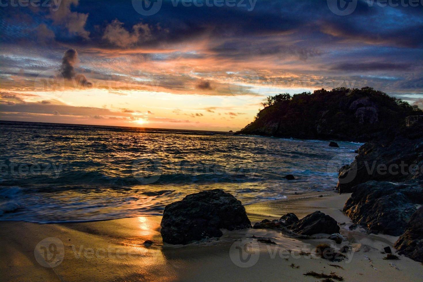 fijiansk solnedgång foto
