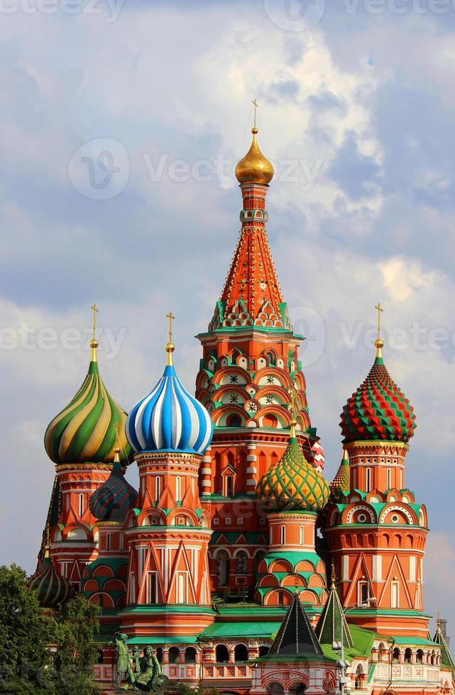 helgonbasilkatedralen, Moskva, Ryssland foto