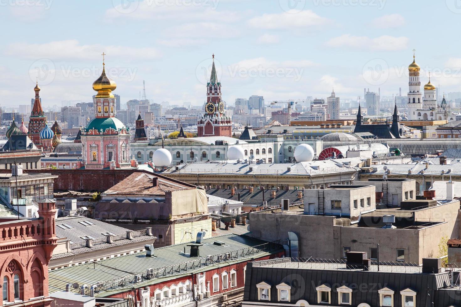 historiska centrum av Moskva med Kreml foto