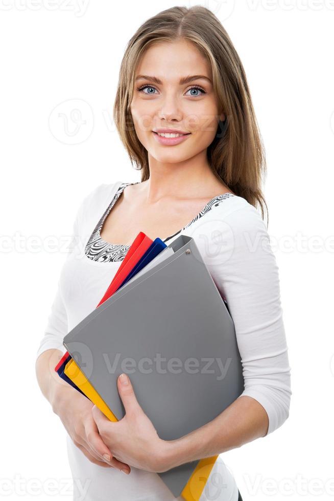 trevlig kvinnlig student foto