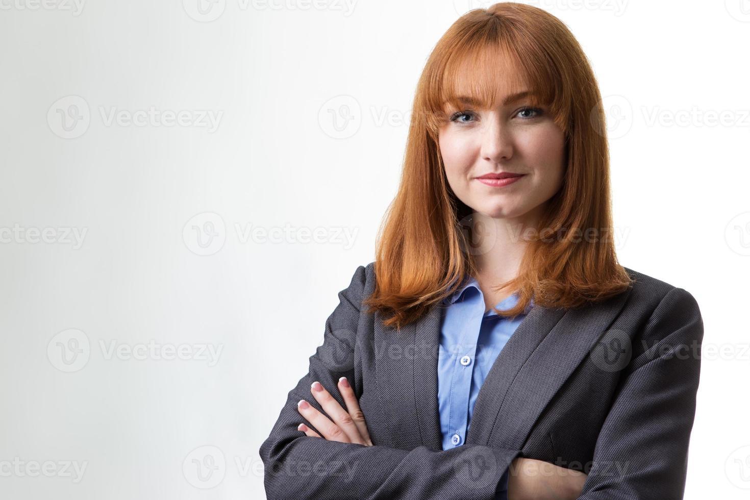 kvinna i affärer foto