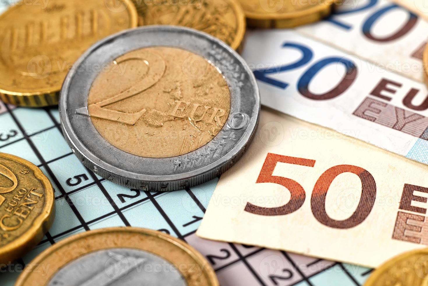 pengar och mynt foto