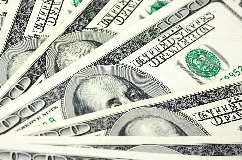pengar hög närbild foto