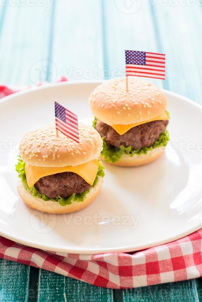 mini hamburgare foto