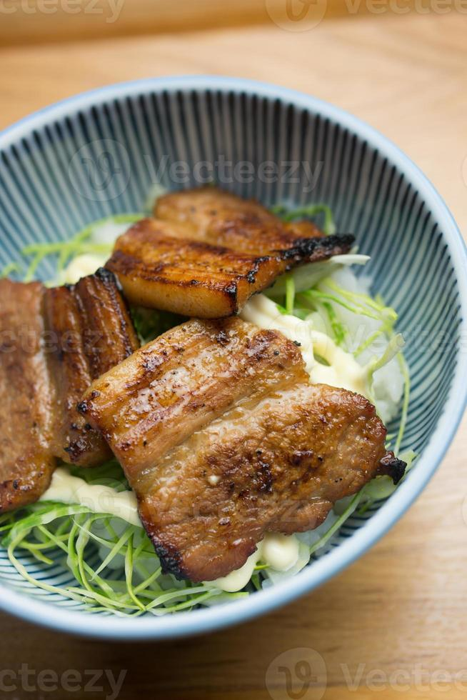 japanska regionala köket obihiro butadon foto