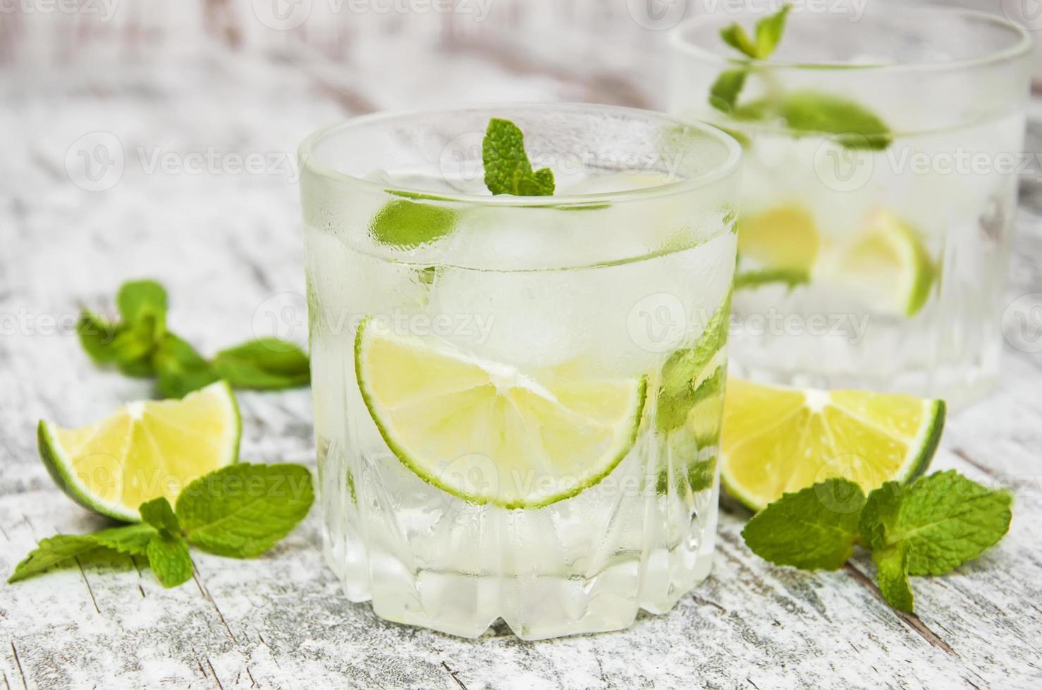 kall färsk limonaddrink foto
