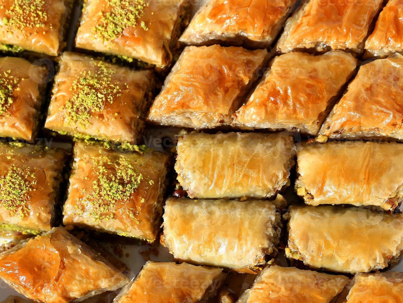 läckra turkiska baklava foto