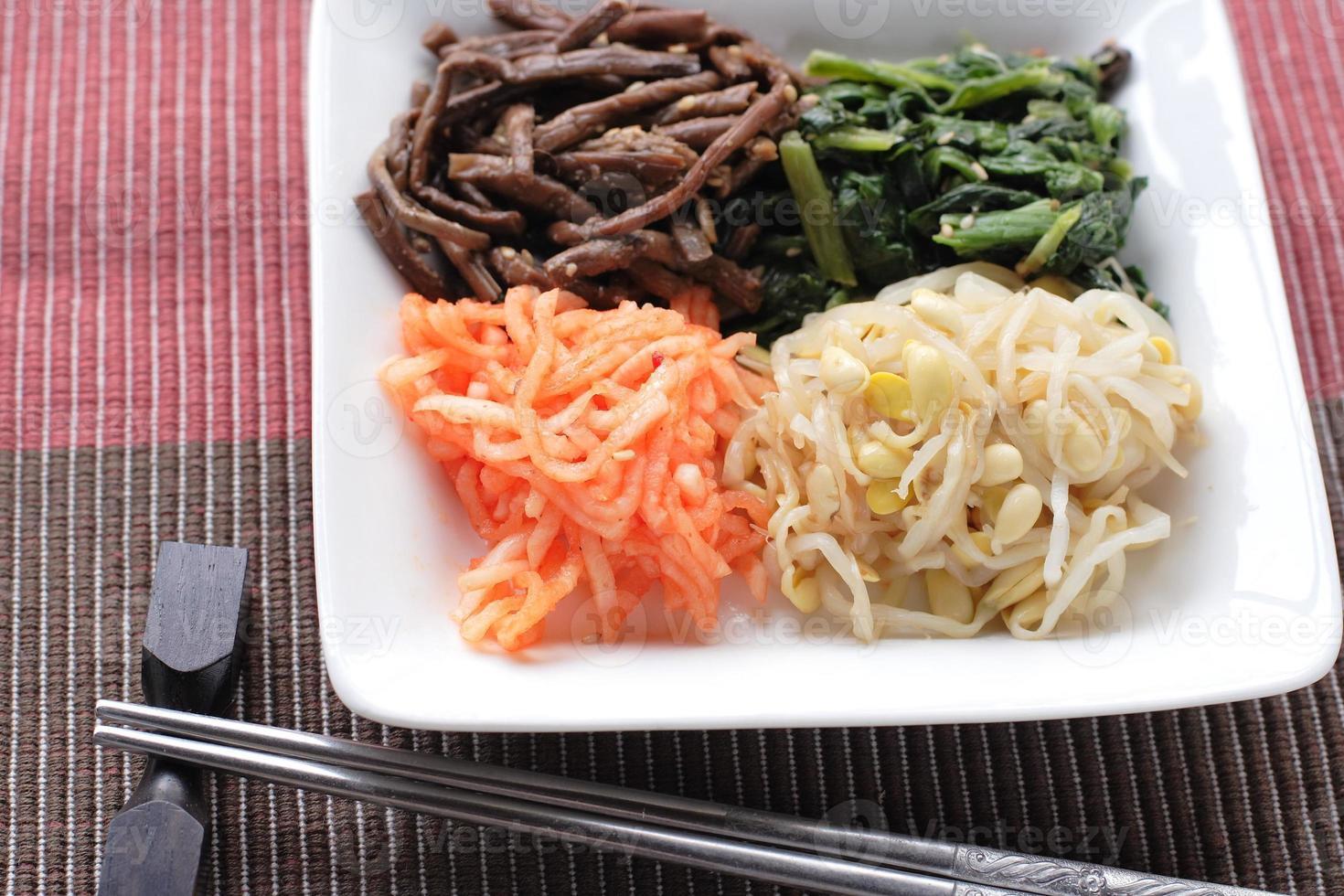 koreansk mat, namul kimchi foto
