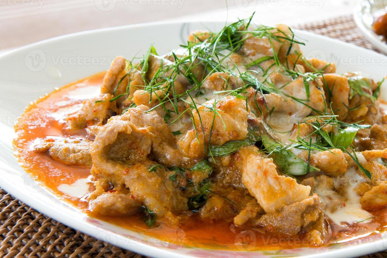 fläsk med curry foto