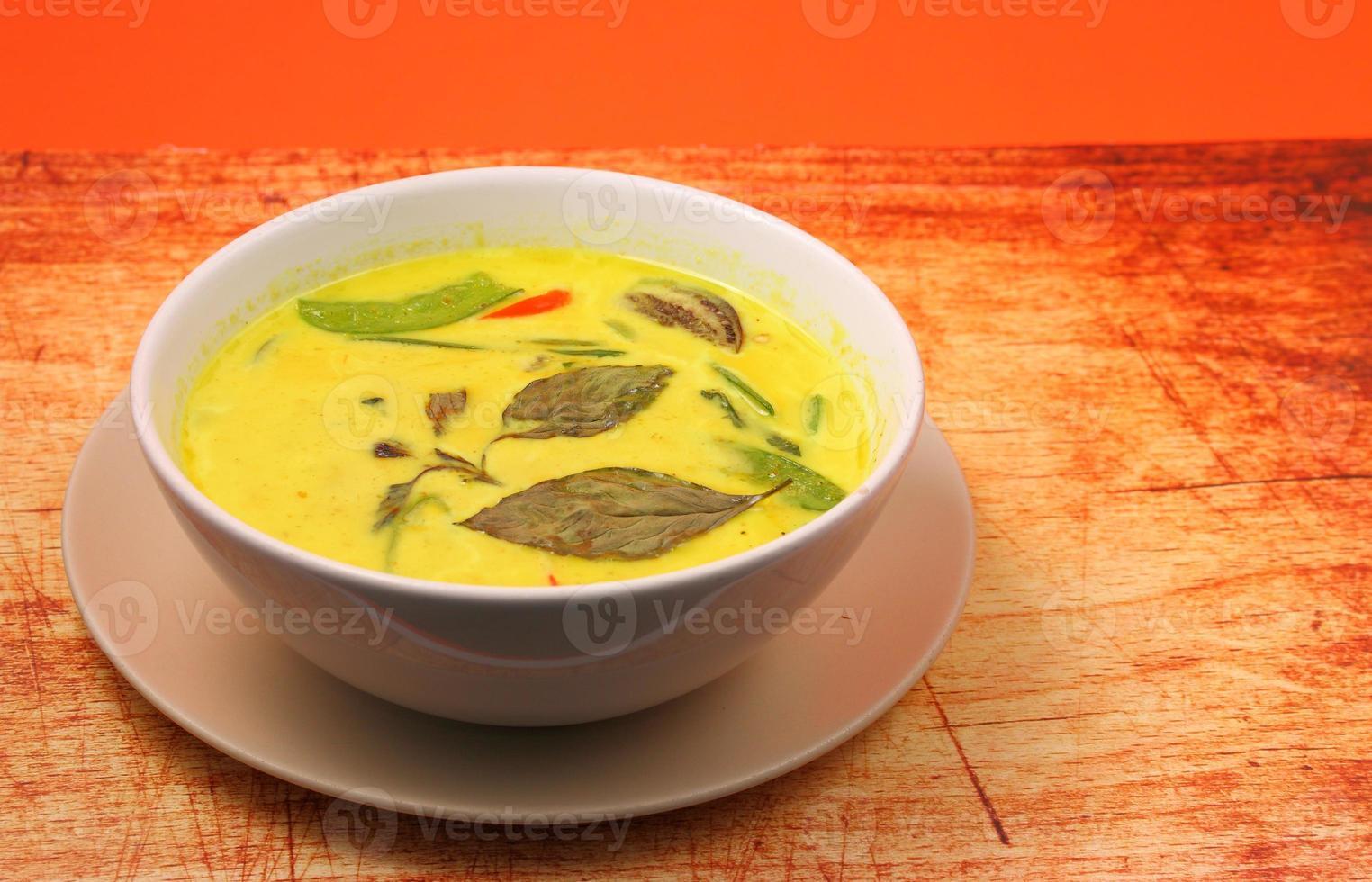 Thailand grön curry foto