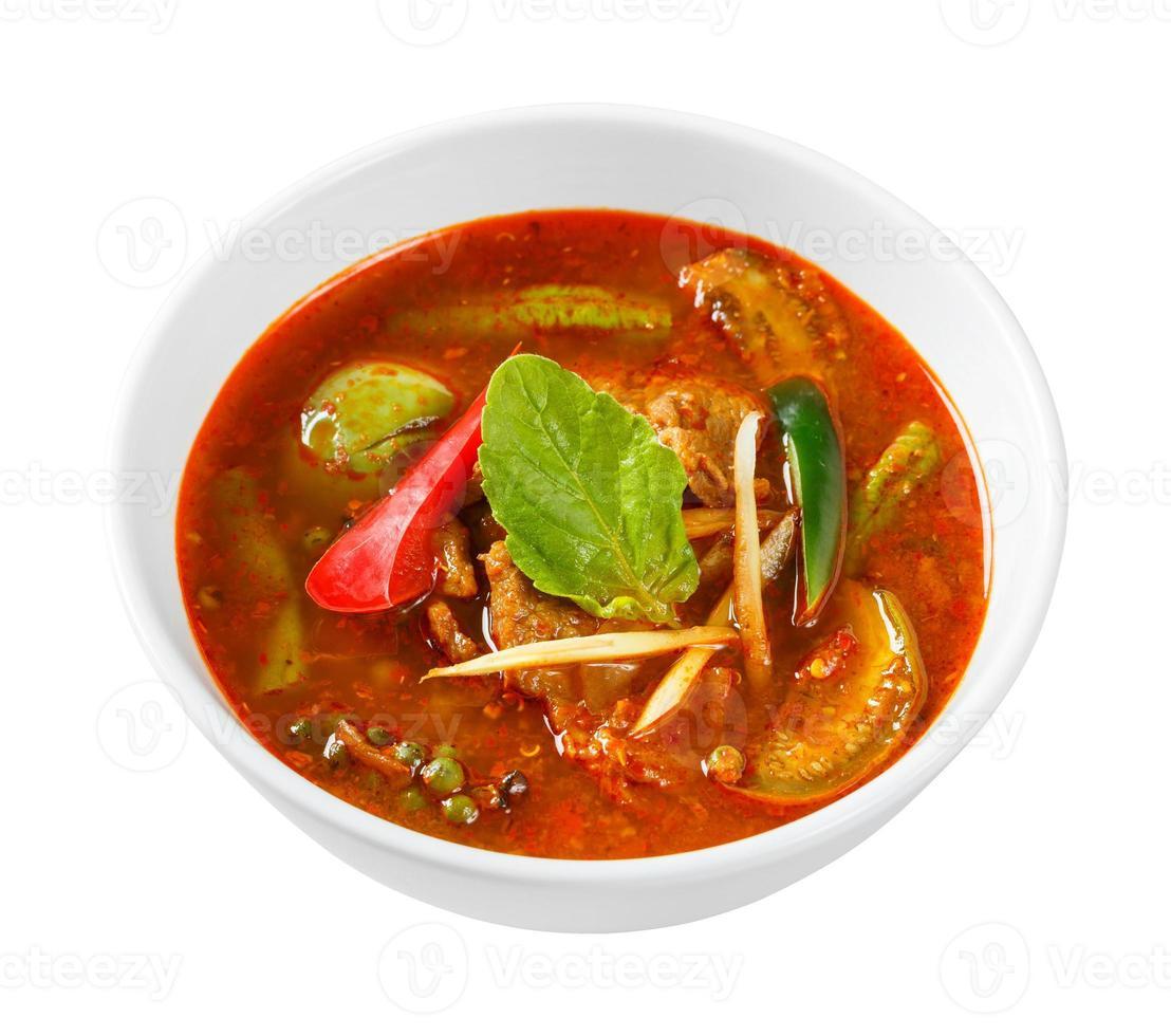 kryddig röd curry med fläsk foto