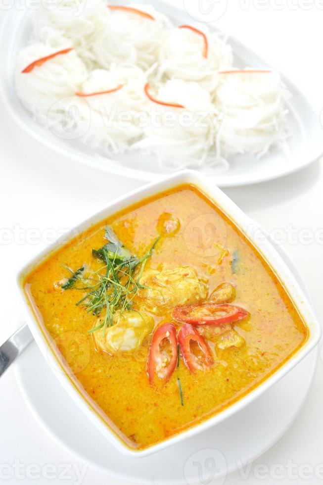 krabba kött curry foto