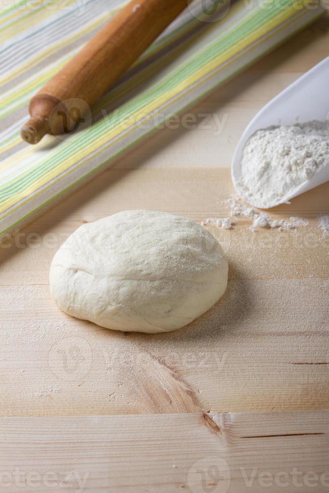 ingredienser för pizza matlagning foto