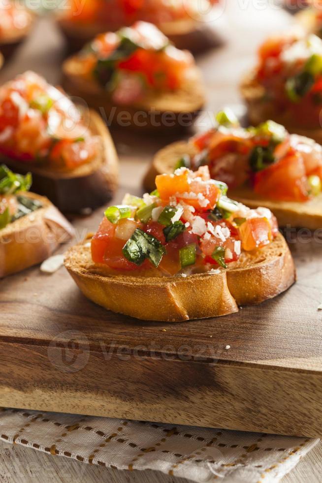 hemlagad italiensk bruschetta-aptitretare foto