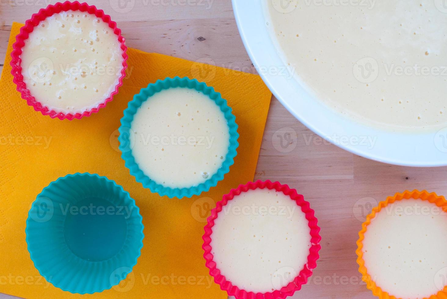 bakning muffins foto