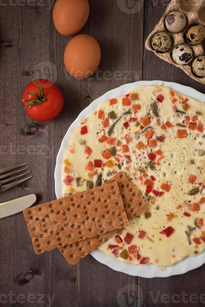 bakad omelett foto
