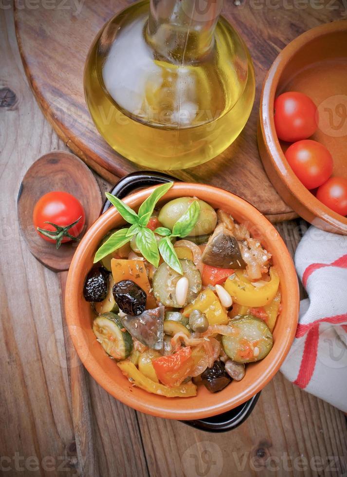 sicilianska caponata recept foto
