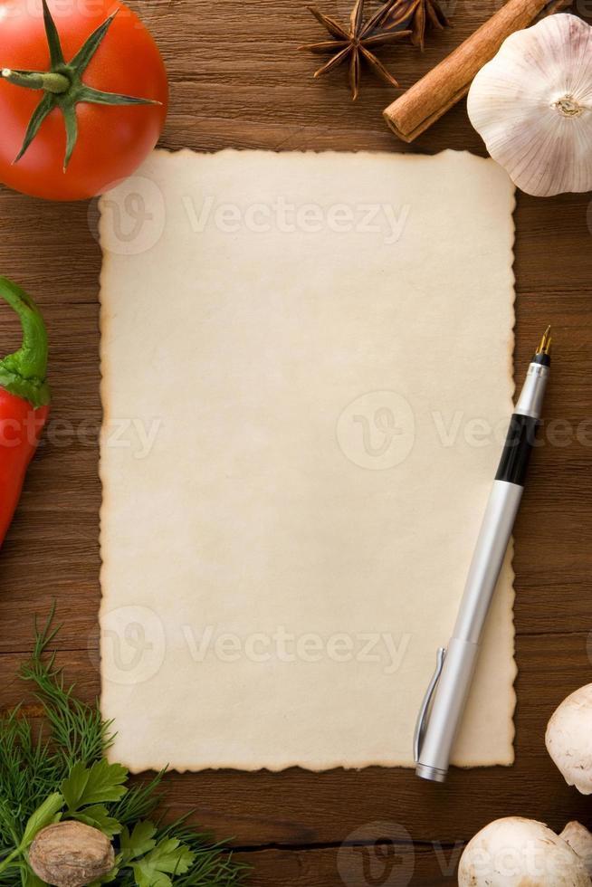 bakgrund för matlagning recept foto