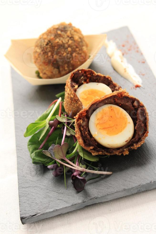 skotsk manchester ägg foto