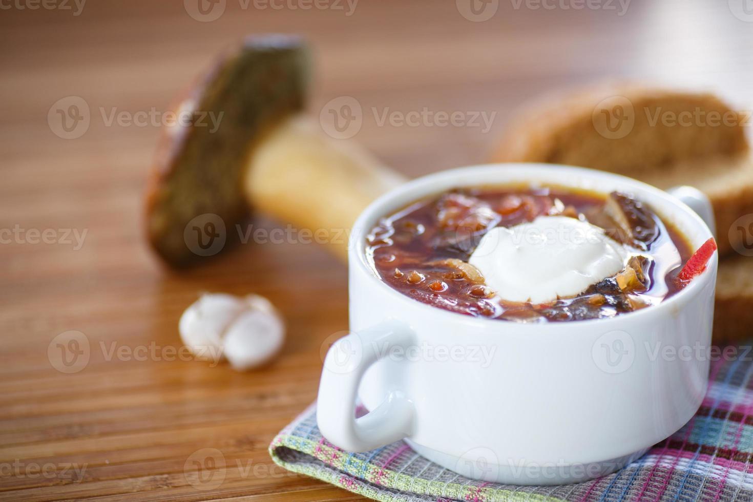soppa med svamp foto